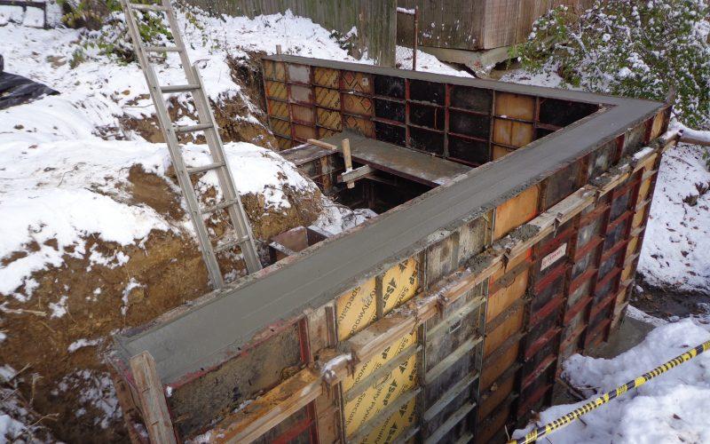 Poured Concrete Retaining Walls : Poured concrete retaining wall cincinnati ohio hughes