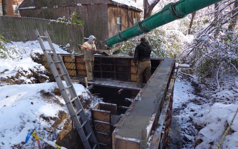 Poured Concrete Retaining Wall Cincinnati Ohio Hughes