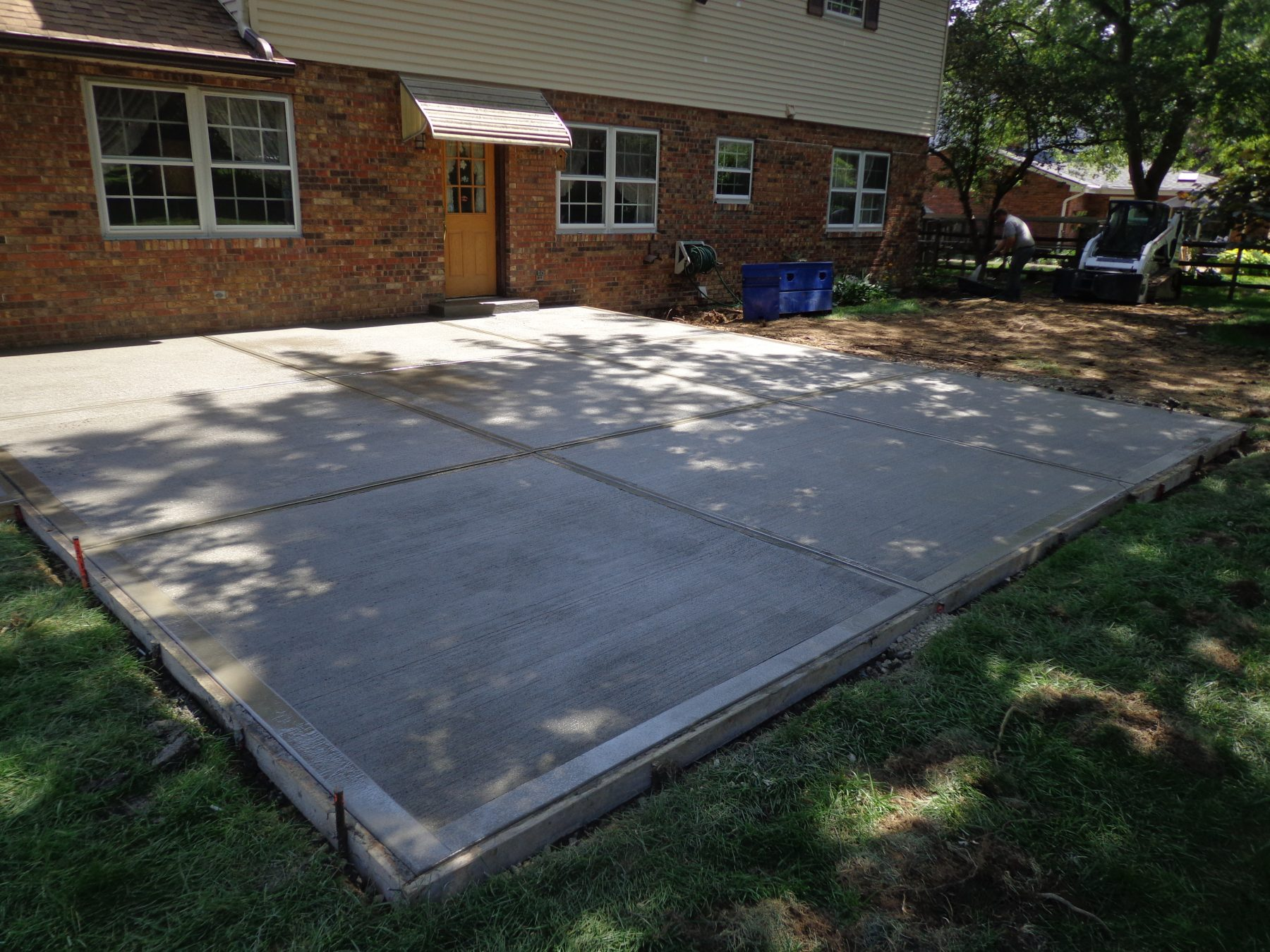 New Back Patio Driveway Apron And Structural Steel Angle