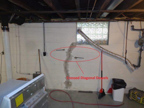 Cracking basement walls