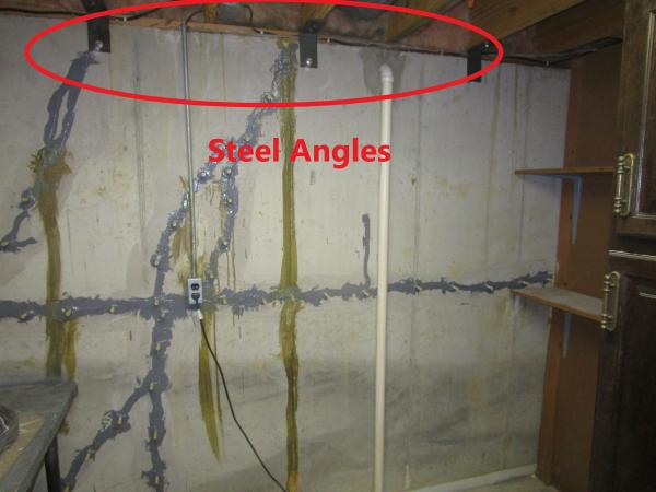 Steel Angles on Basement Walls